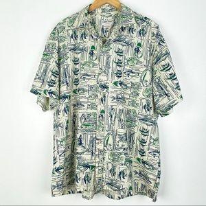 COOKE STREET Hawaiian Aloha shirt XL fish print t2
